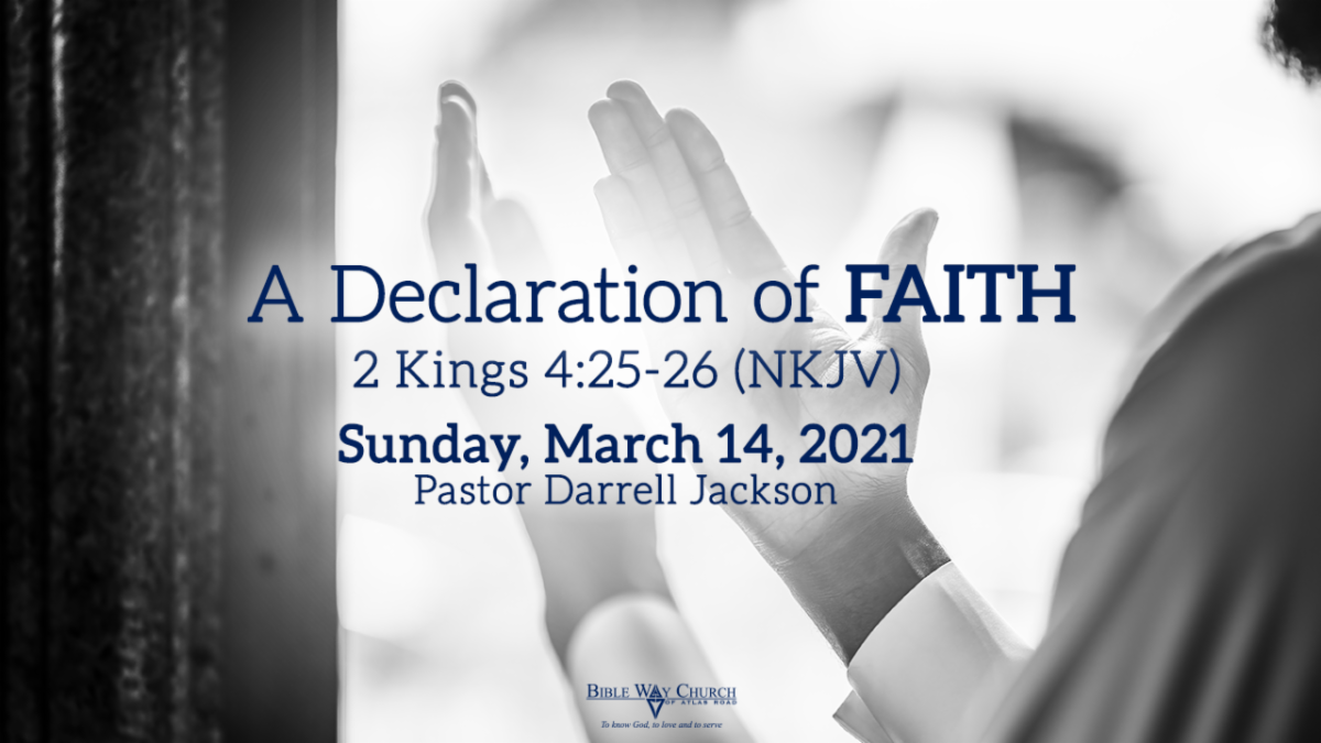 """A Declaration of Faith"""